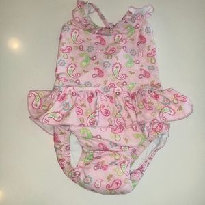 I Play Swim - Paisley swimsuit with built in swim diaper